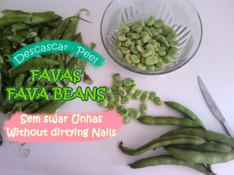 Dicas: https://arquetipicocozinhainusitada.wordpress.com/2016/04/11/como-descascar-favas-sem-sujar-unhas-how-to-peel-fava-beans-without-dirtying-nails/
