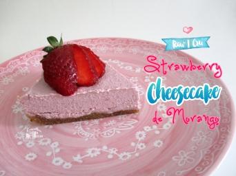 Receita/Recipe: https://arquetipicocozinhainusitada.wordpress.com/2016/05/03/cheesecake-cru-de-morango-raw-strawberry-cheesecake/
