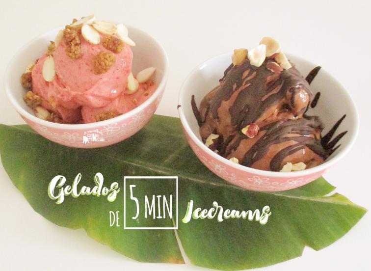 Gelados de Morango e de Chocolate feitos em 5 minutos - 5 minute Strawberry and Chocolate Ice Creams.jpg