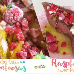 Receita/Recipe: https://arquetipicocozinhainusitada.wordpress.com/2016/09/06/batatas-doces-silvestres-raspberry-sweet-potatoes/