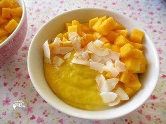 Receita/Recipe: https://arquetipicocozinhainusitada.wordpress.com/2016/12/31/mousse-de-manga-e-coco-mango-and-coconut-mousse/