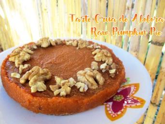 Receita/Recipe: https://arquetipicocozinhainusitada.wordpress.com/2016/12/06/tarte-crua-de-abobora-raw-pumpkin-pie/
