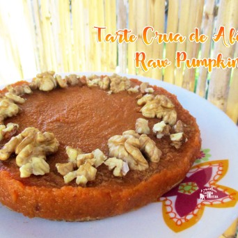 Receita/Recipe: https://arquetipicocozinhainusitada.wordpress.com/2016/12/06/tarte-crua-de-abobora-raw-pumpkin-pie/