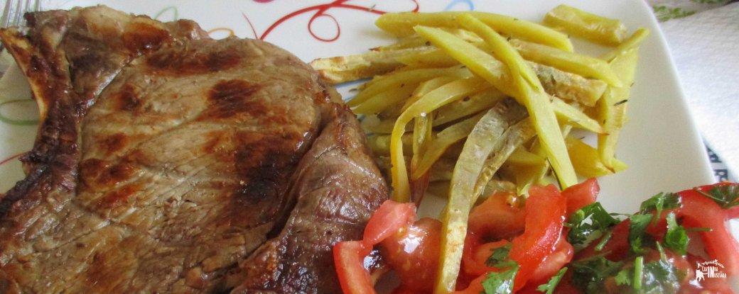 Batatas-doces de Forno - Baked Sweet Potato Fries refeição