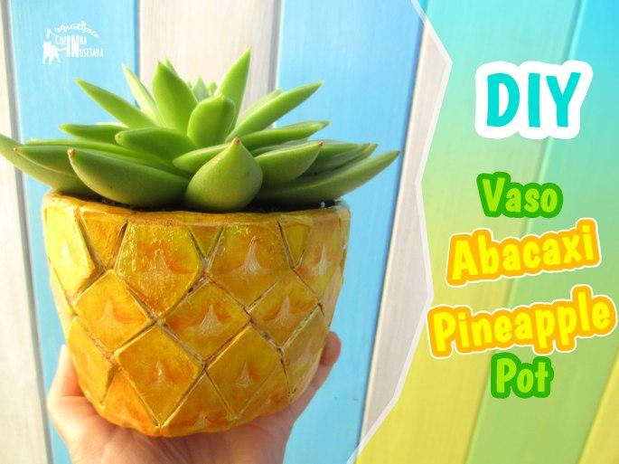 DIY Vaso de Abacaxi em madeira - Pineapple wooden Pot (cachepot)