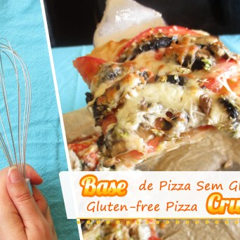 Receita/Recipe: https://arquetipicocozinhainusitada.wordpress.com/2017/06/22/base-de-pizza-sem-gluten-sem-amassar-gluten-free-pizza-crust-no-knead/