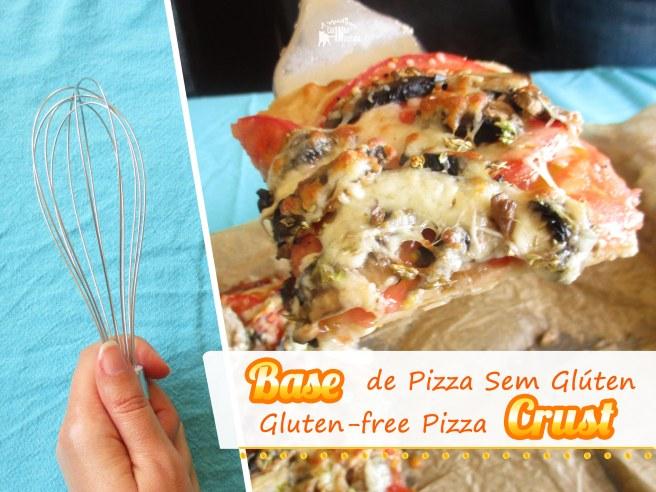 Base de Pizza sem Glúten (sem amassar) - Gluten free Pizza Crust (no knead)
