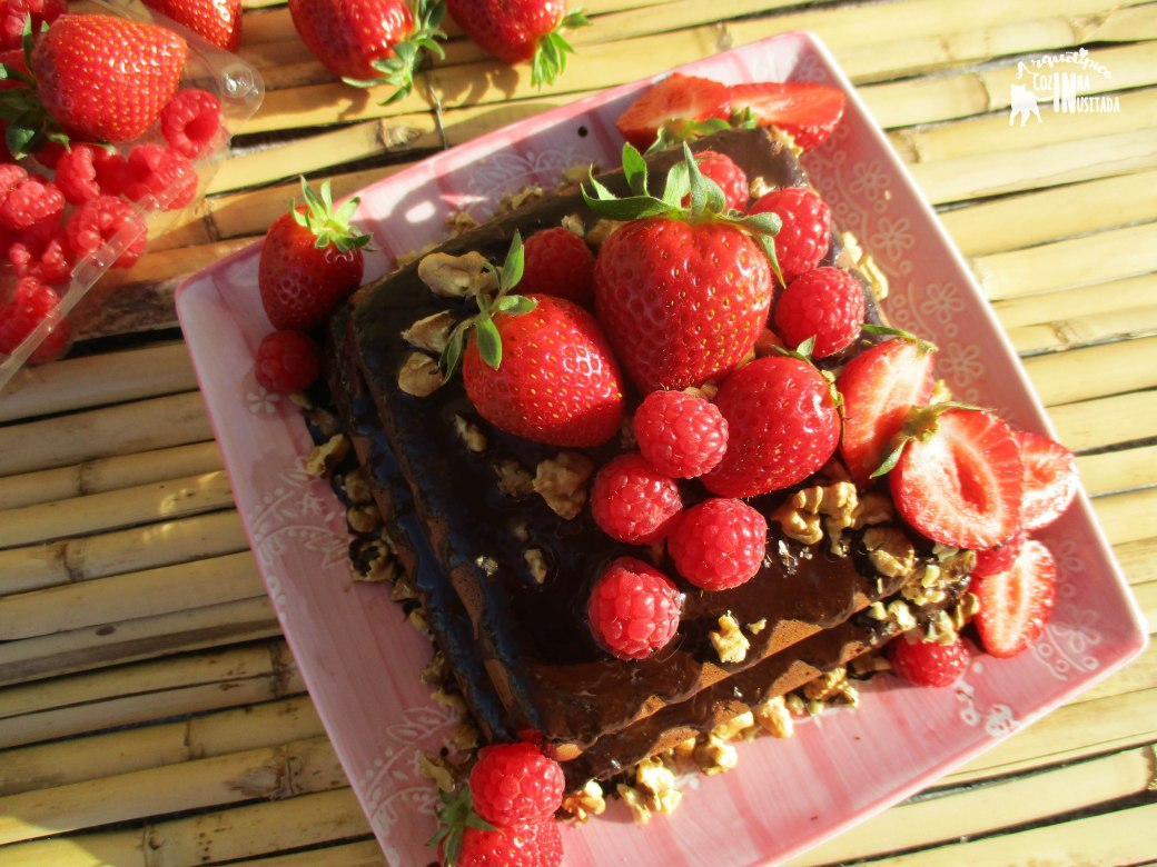 Chiffon de chocolate sem glúten e sem açúcar - Gluten-free and Sugar-free Chocolate Chiffon Cake 1