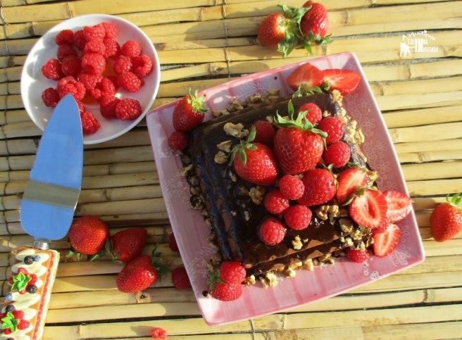 Chiffon de chocolate sem glúten e sem açúcar - Gluten-free and Sugar-free Chocolate Chiffon Cake 2