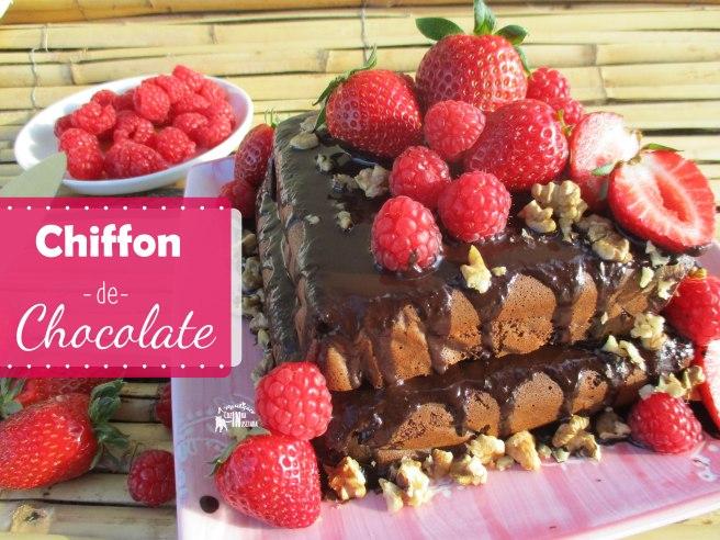 Chiffon de chocolate sem glúten e sem açúcar - Gluten-free and Sugar-free Chocolate Chiffon Cake