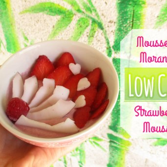 Receita/Recipe: https://arquetipicocozinhainusitada.wordpress.com/2017/06/06/mousse-de-morango-strawberry-mousse-low-carb-paleo-vegan/