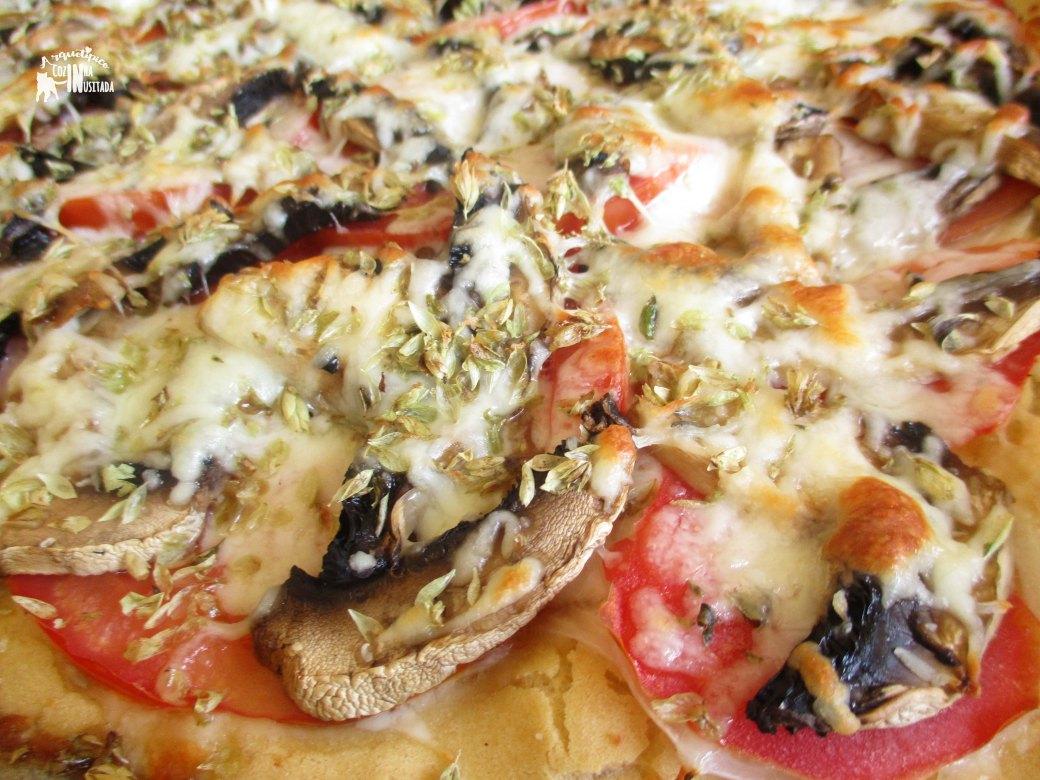 Pizza sem molho e Dica sobre Cogumelos - Sauceless Pizza and Mushroom Tip Zoom