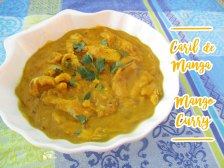 Receita/Recipe: https://arquetipicocozinhainusitada.wordpress.com/2017/09/20/caril-de-manga-mango-curry/