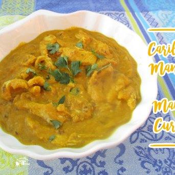 Receita/Recipe: https://arquetipicocozinhainusitada.wordpress.com/2017/09/20/caril-de-manga-mango-curry/