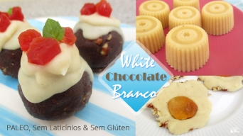 Receita/Recipe: https://arquetipicocozinhainusitada.wordpress.com/2017/11/28/chocolate-branco-paleo-sem-gluten-e-sem-laticinios-paleo-white-chocolate/