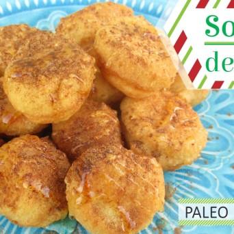 Receita/Recipe: https://arquetipicocozinhainusitada.wordpress.com/2017/11/22/sonhos-de-natal-portuguese-christmas-dessert-paleo-gluten-free/