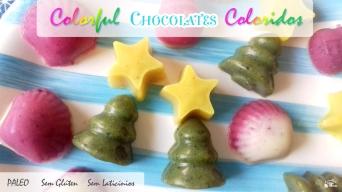 Receita/Recipe: https://arquetipicocozinhainusitada.wordpress.com/2017/12/18/chocolates-coloridos-paleo-paleo-colorful-chocolates/