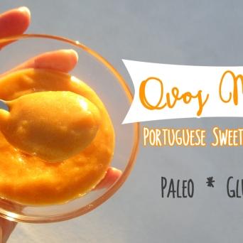Receita/Recipe: https://arquetipicocozinhainusitada.wordpress.com/2018/01/23/ovos-moles-portuguese-sweet-egg-sauce-paleo-sem-gluten/