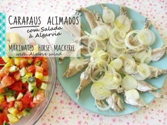 Receita/Recipe: https://arquetipicocozinhainusitada.wordpress.com/2018/04/19/carapaus-alimados-com-salada-algarvia-marinated-horse-mackerel-portuguese-recipe/