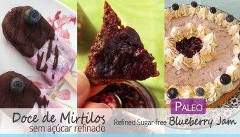 Receita/Recipe: https://arquetipicocozinhainusitada.wordpress.com/2018/07/25/doce-de-mirtilos-sem-acucar-refinado-paleo-refined-sugar-free-blueberry-jam/