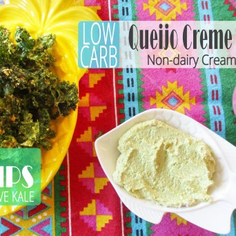 Receita/Recipe: https://arquetipicocozinhainusitada.wordpress.com/2018/07/16/queijo-creme-vegano-e-chips-de-couve-non-dairy-cream-cheese-and-kale-chips/