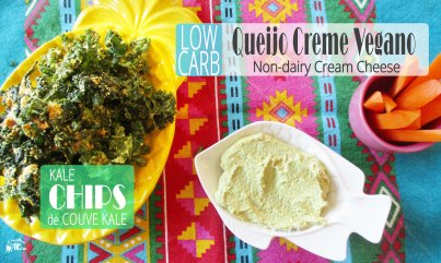 Receita/Recipe: https://arquetipicocozinhainusitada.wordpress.com/2018/07/16/queijo-creme-vegano-e-chips-de-couve-non-dairy-cream-cheese-and-kale-chips/