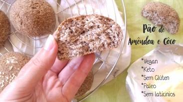 Receita/Recipe:https://arquetipicocozinhainusitada.wordpress.com/2018/10/09/pao-de-amendoa-e-coco-keto-vegan-e-sem-gluten/