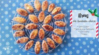 Receita/Recipe: https://arquetipicocozinhainusitada.wordpress.com/2019/01/04/broas-de-batata-doce-sem-gluten-e-paleo/