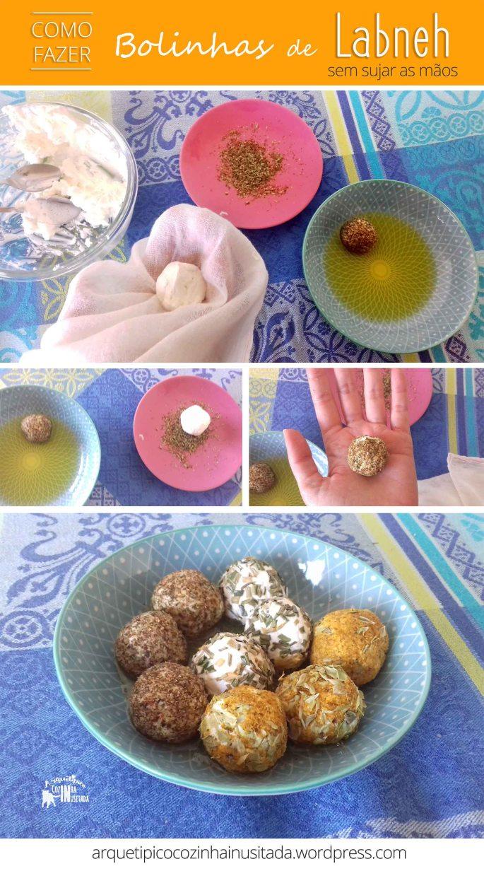 como fazer bolinhas de labneh sem sujar as mãos