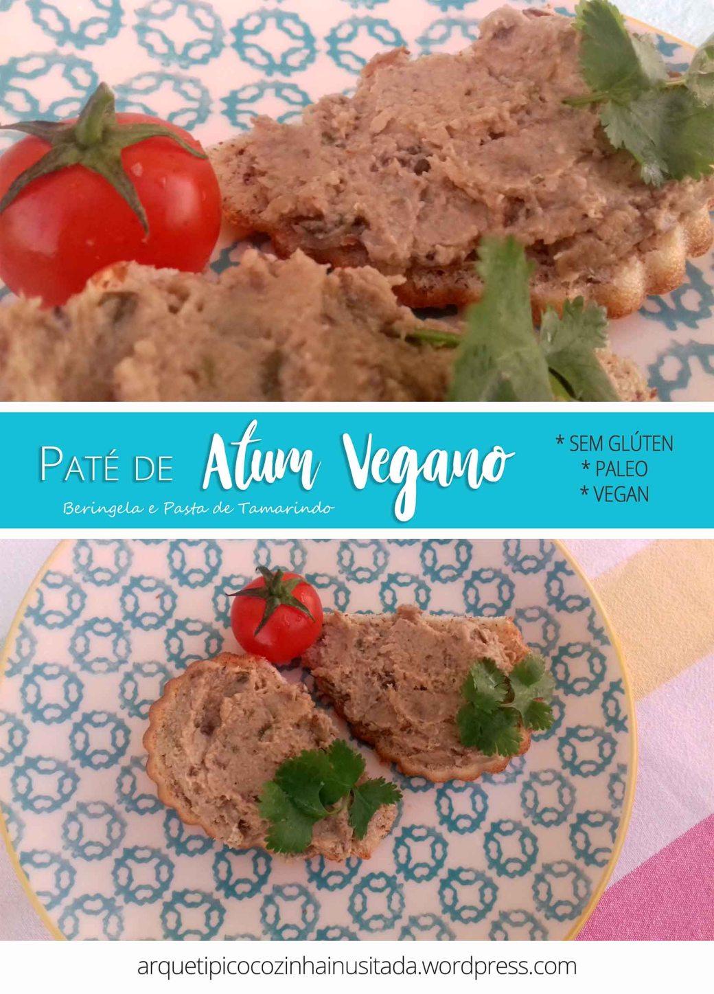 Paté de Atum Vegano - Beringela e Pasta de Tamarindo Pin