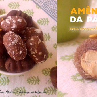 Receita/Recipe: https://arquetipicocozinhainusitada.wordpress.com/2019/04/08/amendoas-da-pascoa-com-caramelo-de-sesamo/