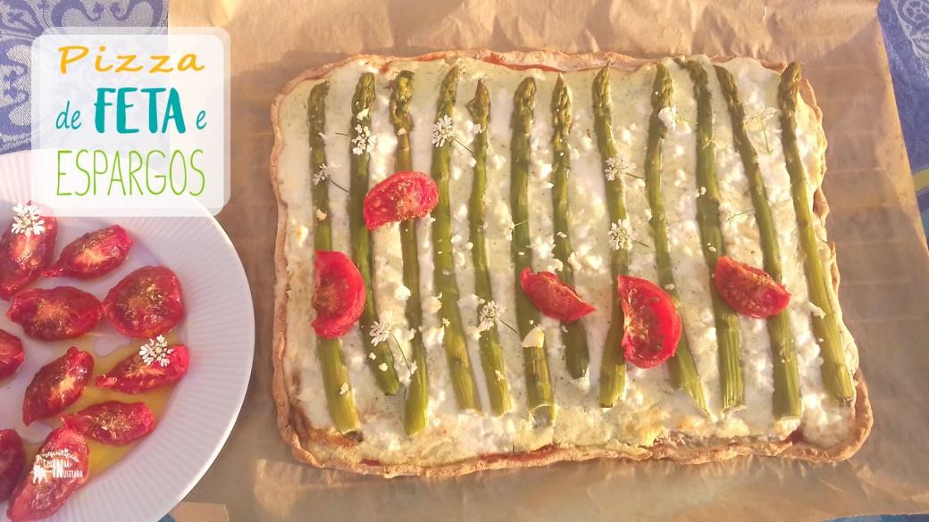 Pizza de Queijo Feta e Espargos - Sem Glúten e Paleo