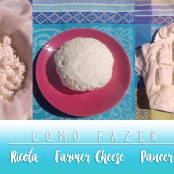 Receita/Recipe: https://arquetipicocozinhainusitada.wordpress.com/2019/07/05/como-fazer-ricota-farmer-cheese-e-paneer-de-leite-de-cabra/